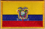 Ecuador Embroidered Flag Patch, style 08.